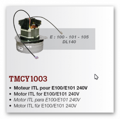 motor pre E100,E101,E105,DL140