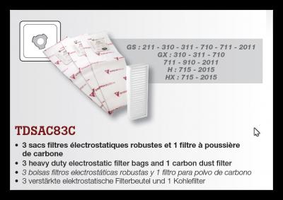 Vrecká do vysávača Cyclovac TDSAC83C