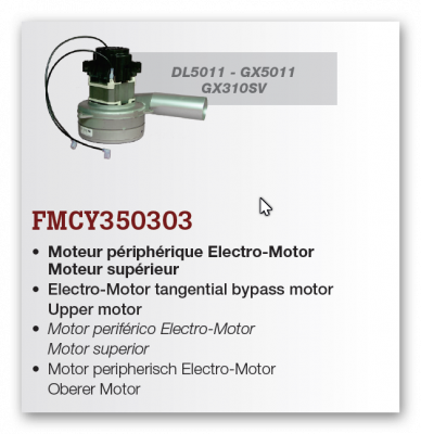 motor pre GX310SV