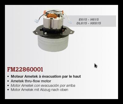 motor pre H615, HX615, E615, DL615